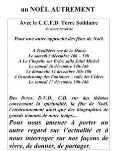 «NOËL AUTREMENT» avec le CCFD