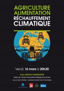 Conférence 16 MARS : L'Agriculture et l'Alimentation face au réchauffement climatique